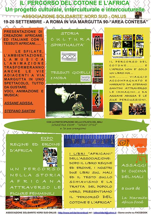IL PERCORSO DEL COTONE E L'AFRICA – 19/20 SETTEMBRE – AREA CONTESA